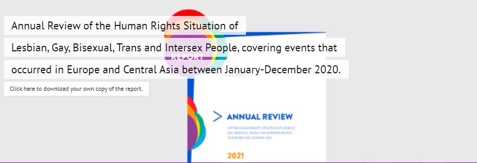 ILGA Europe: Rapport annuel 2020